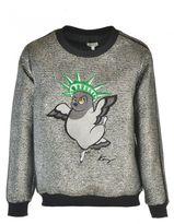 Kenzo Sweatshirt With Metallic Fibres