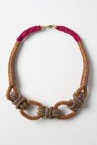 Anthropologie Shimmering Sailor Knot Necklace