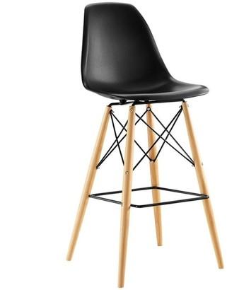 Modway Pyramid Bar Stool - Black