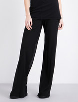 Rick Owens Wide-leg silk-crepe trousers