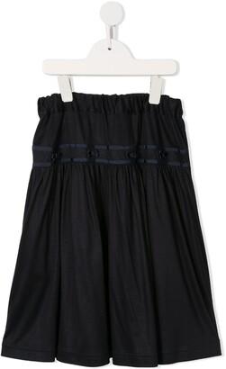 Familiar Elastic Waist Skirt