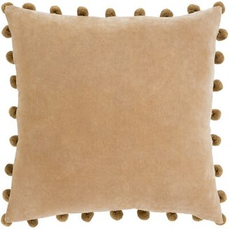 """Surya Serengeti Cotton Throw Pillow Cover Color: Brown, Size: 20"""" H x 20"""" W x 0.25"""" D"""