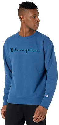 Champion Powerblend Crew w/ Taping (Oxford Gray) Men's Clothing