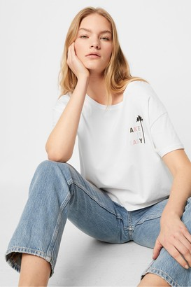 French Connection Take It Easy Crop Tee