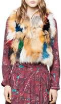 Zadig & Voltaire Deluxe Fee Fox Fur Patchwork Bolero