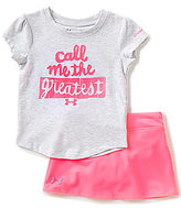 Under Armour Baby Girls 12-24 Months Call Me The Greatest Short-Sleeve Tee & Solid Skirt Set