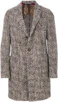 Etro textured single-breasted coat