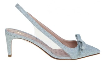 RED Valentino Slingback Leather Sandie Color Heavenly