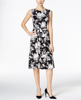 Charter Club Printed Fit & Flare Dress, Only at Macy's