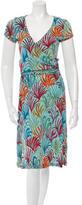 Issa Short Sleeve Midi Dress