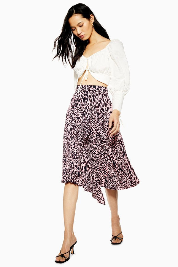c6d6c55f95 Animal Print Pleated Skirt - ShopStyle UK