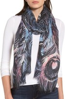 Nordstrom Women's Modern Peacock Silk & Cashmere Scarf
