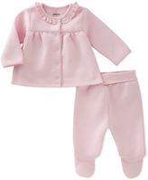 Absorba Pink Quilted Peter Pan Collar Top & Footie Pants - Infant