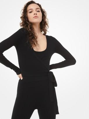 Michael Kors Cashmere Wrap Sweater