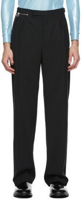 Raf Simons Black Wool Wide-Leg Trousers