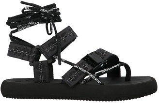 Off-White Logo Velcro Straps Sandals