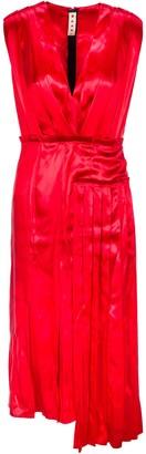Marni Asymmetric Pleated Dress