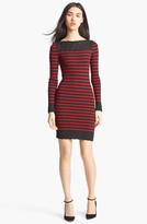 Jean Paul Gaultier Fuzzi Nautical Stripe Knit Dress