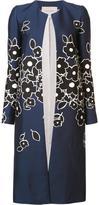 Carolina Herrera concealed fastening floral coat