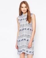 Daisy Street Shirt Dress In Elephant Print
