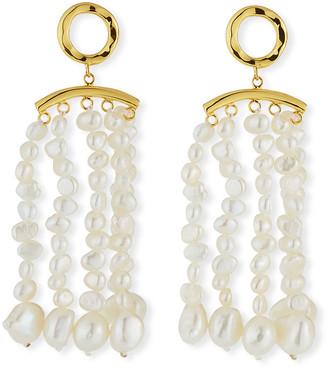 Nest Jewelry Pearl Tassel Earrings