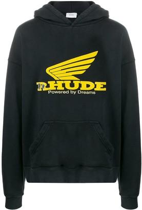Rhude long sleeve logo hoodie