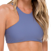 Luli Fama High Neck Sporty Bra In Blue moon (L176480)