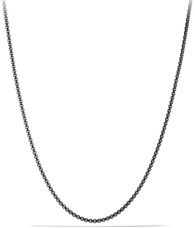 "David Yurman Small Box Chain Necklace, 24"""