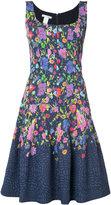 Oscar de la Renta multi floral sleeveless scoop neck dress - women - Nylon/Polyester - 8