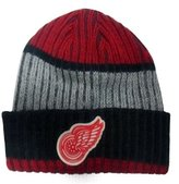 Reebok Detroit Red Wings Face Off Ribbed Cuffed Knit Hat