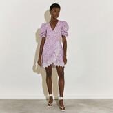 Thumbnail for your product : River Island Womens Pink short sleeve wrap tea mini dress