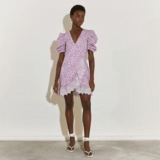 River Island Womens Pink short sleeve wrap tea mini dress