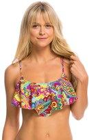 Hobie Peace, Love, and Paisley Hanky Crop Bikini Top 8140309