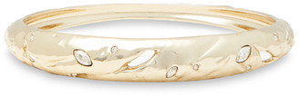 Alexis Bittar 10-karat Gold-plated Crystal Bangle