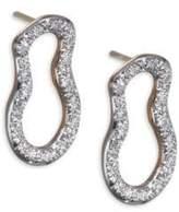 Monica Vinader Diamond & 18K Gold Riva Pod Stud Earrings