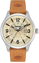 Timberland 'Blake' Leather Strap Watch, 46Mm