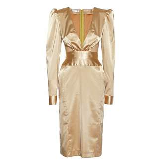 Jiri Kalfar Gold Silk Dress