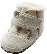 Toms Cuna Crib Shoes White Metallic Twill Suede 10006996 Tiny 2