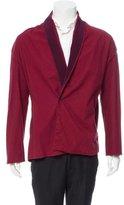 Haider Ackermann Grosgrain-Trimmed One-Button Shirt Jacket