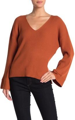 Free Press V-Neck Ribbed Sweater