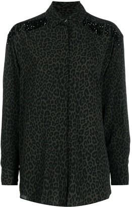Pinko Beaded Leopard-Print Shirt