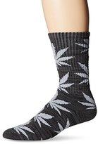 HUF Men's Melange Plantlife Crew Sock