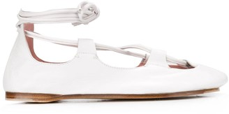 Lanvin Ankle Strap Ballerina Shoes