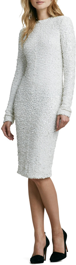 Rachel Zoe Adrienne Fitted Sequined Dress