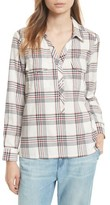 Soft Joie Women's Antolina Plaid Cotton Top