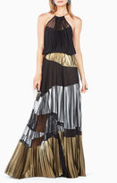 BCBGMAXAZRIA Delana Metallic-Blocked Dress