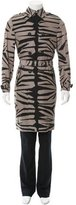 Burberry Striped Silk Trench Coat w/ Tags