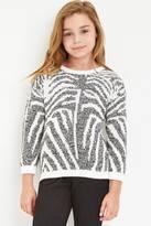 Forever 21 Girls Tiger Stripe-Patterned Sweater (Kids)