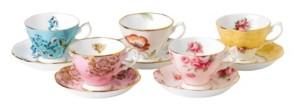 Royal Albert 100 Years 1950-1990 5-Piece Teacup & Saucer Set