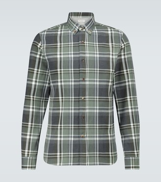 Brunello Cucinelli Long-sleeved checked flannel shirt
